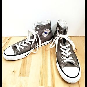 Converse All Star Gray Womens High Top Sneakers